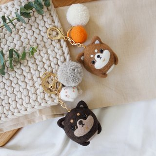 Cute forest - round call Huai dog key ring (two)
