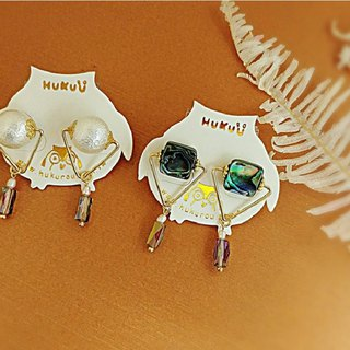HUKUROU retro geometric triangle earrings