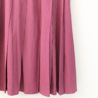 Retro Summer Pastoral Style Dotted Purple Peach Powder Vintage Dress Vintage Skirt
