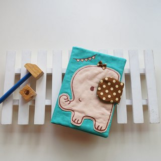 Hand pantined Happy elephant baby health manual set