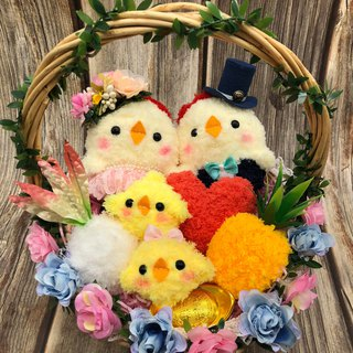 Leading chicken key bag + mobile phone hanging combination wedding engagement wedding small things wedding supplies