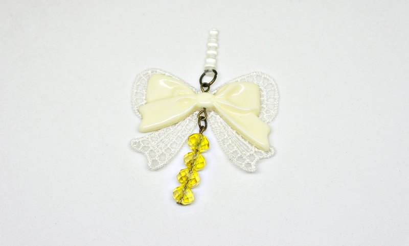 # # Wave of sweet yellow and white * * - earphone series -➮ Limited X1
