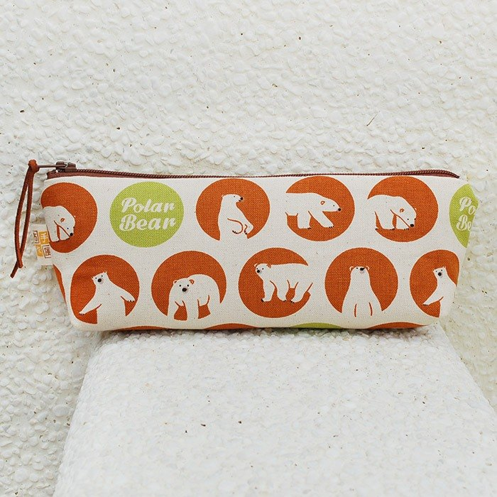 Close-up polar bear wide-bottomed pencil case