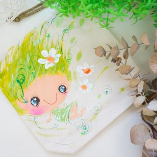 Pure hand-painted flat pouch