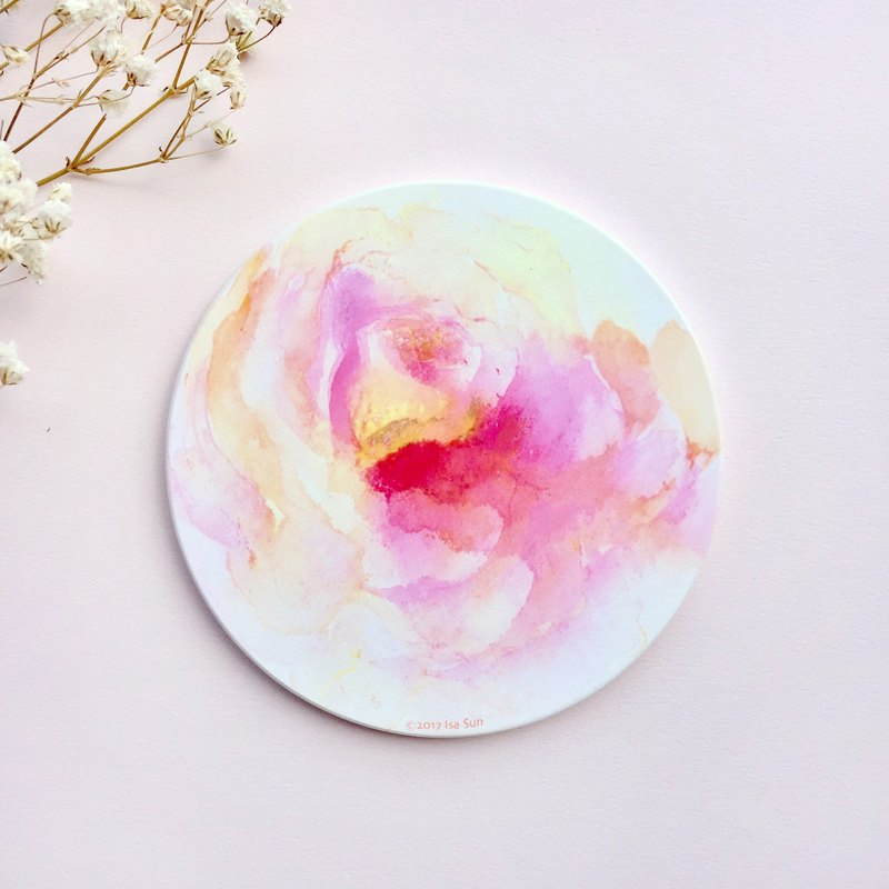 Girl flower ceramic coasters
