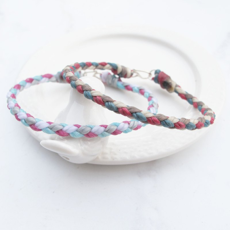 Big staff Taipa [wax rope series] four-line round edge 闺 dense × couple woven wax rope bracelet can choose 4 colors
