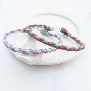 Big staff Taipa [manual creation] four-line round edge 闺 dense × couple weaving wax rope bracelet can choose 4 colors