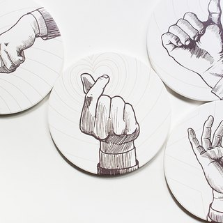 Coasters - Gesture - 4 items boxset