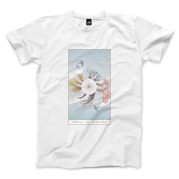 X | The Wheel of Fortune - White - Unisex T-Shirt