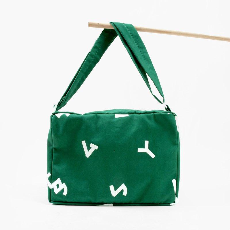 Phonetic Symbol Baoshan Baohai Dafangbao Mountain Green Shoulder Bag Side Backpack