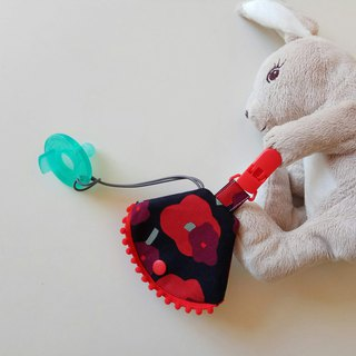 Small cotton ball red clip 椿 nipple dust cover clip nipple clip + pacifier set vanilla nipple pacifier bag