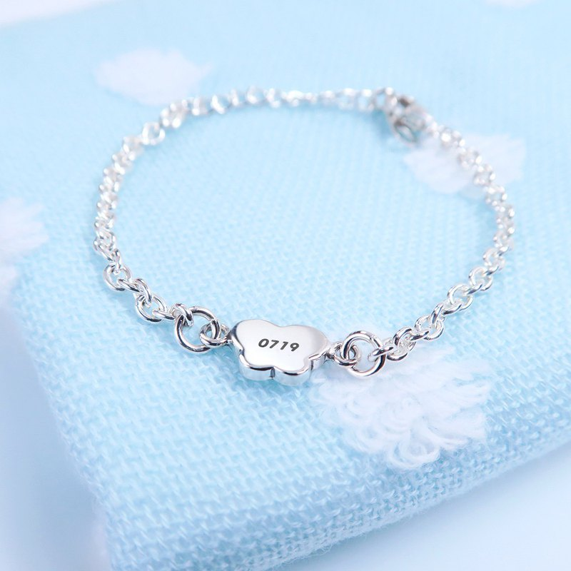 Elegant Butterfly Children's Lettering Bracelet 925 Sterling Silver Customized Bracelet Baby Mi Yue