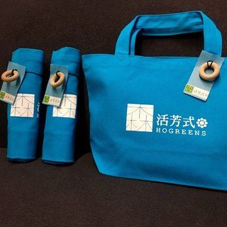 Donuts canvas bag (blue)