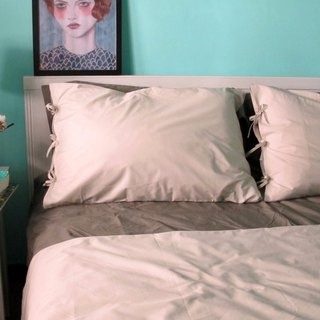 Winter glimmer _100% Turkish organic cotton OCS certified pillowcase a _ cream brown