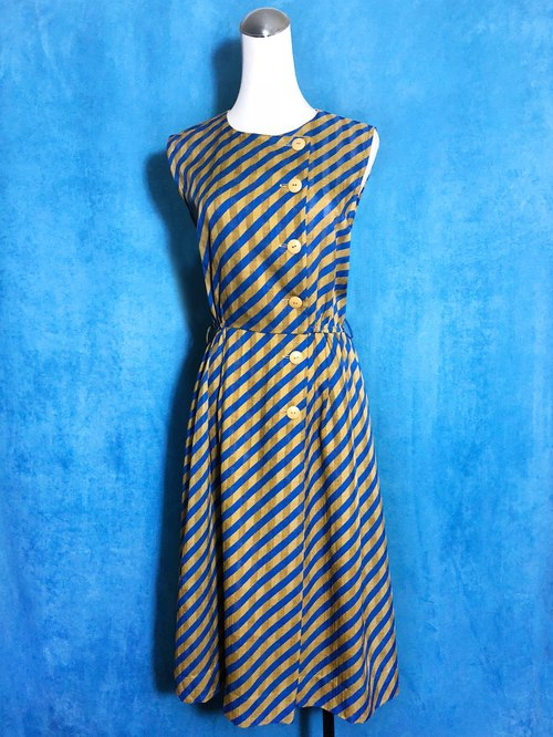 Twill textured sleeveless vintage dress / Bring back VINTAGE abroad