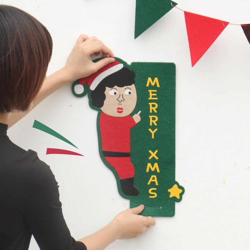 U-PICK original product life New Year Christmas New Year door stickers door stickers creative non-woven width door stickers