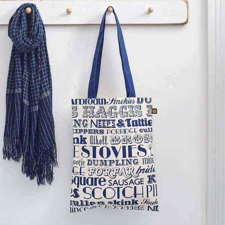 British egg canvas bag Scottish dinner