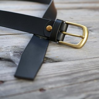 <隆鞄工坊>Handmade belt/tailored/30mm/men and women/father's day gift/black