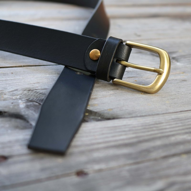Handmade belt / tailor-made / 30mm / men and women apply / Father's Day gift / black