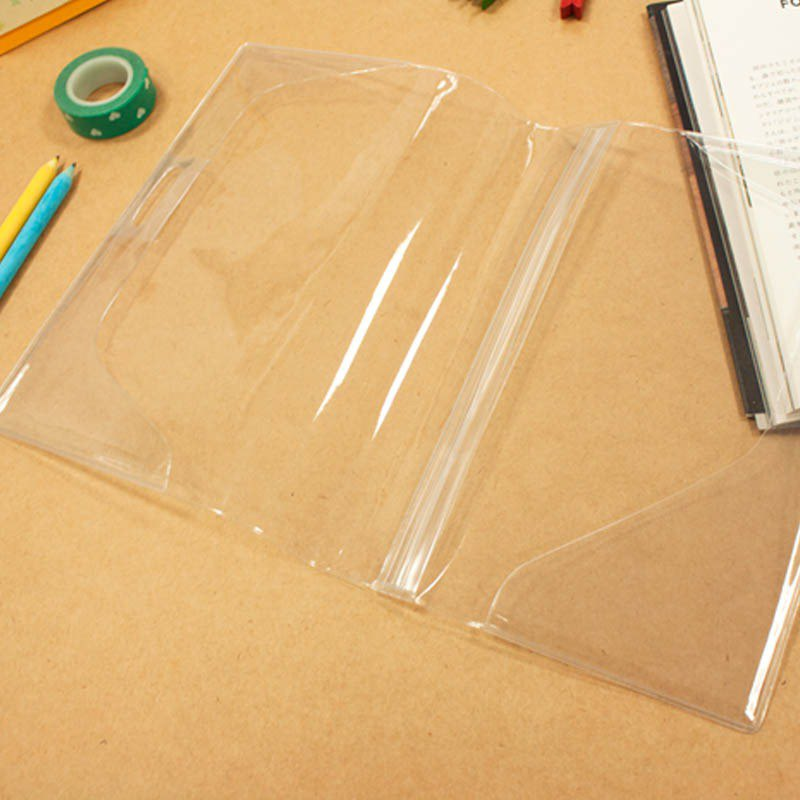 Limited B6/32K transparent book cover / double pen insert book cover