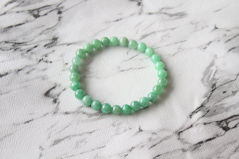 Journal-Yu Cang Yu Natural Ice Yang Green Jade (Burma Jade) Boutique Bead Bracelet Bracelet