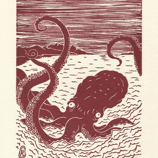 [Water octopus] Print poster