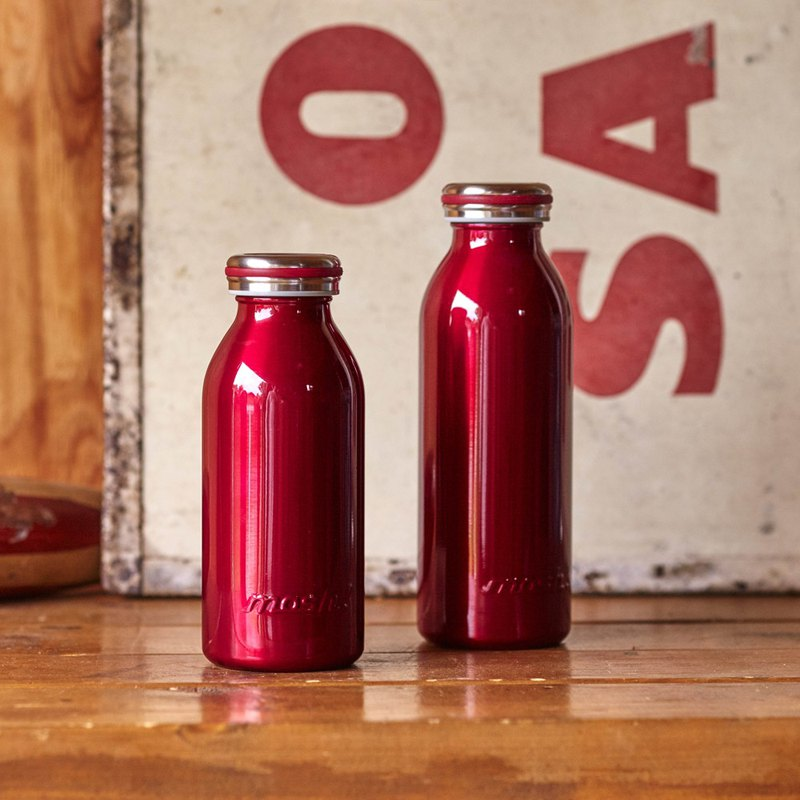 Japan MOSH! Milk system insulation bottle limited edition metal color 450ML (wine red)