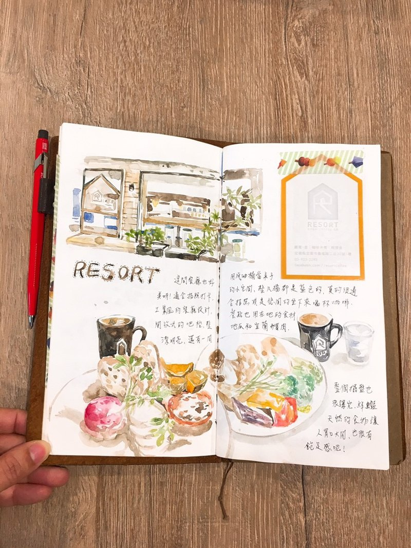 Experience activities. Draw well - watercolor brunch set - brunch drawing + hand account application