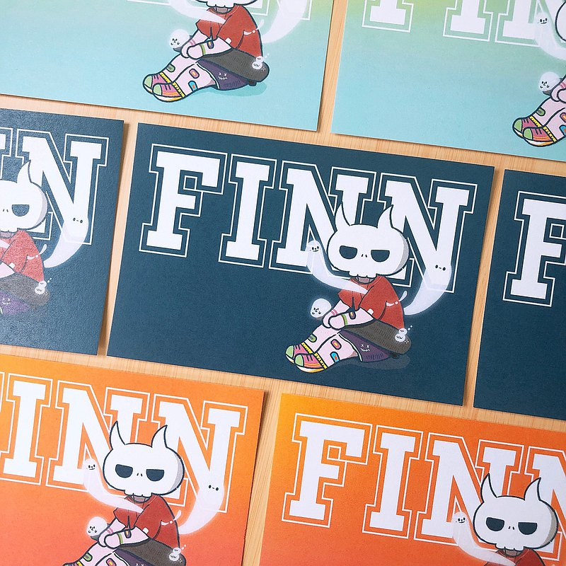 Original FINN SK8 soul postcard (three colors)