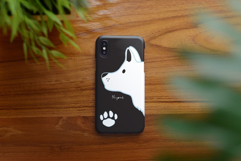 iphone case white dog foot stamp for iphone 6,7,8, iphone xs, iphone xs max