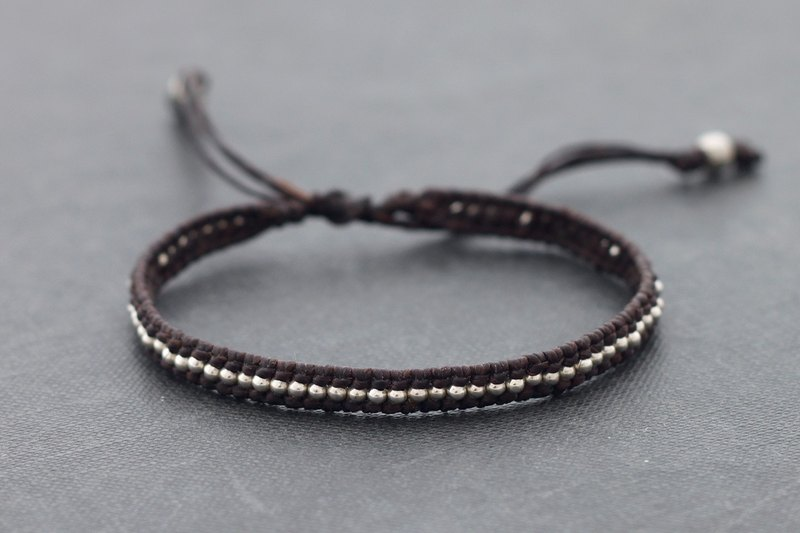 Brown Simple Woven Bracelets Unisex Adjustable Hipster Knotted