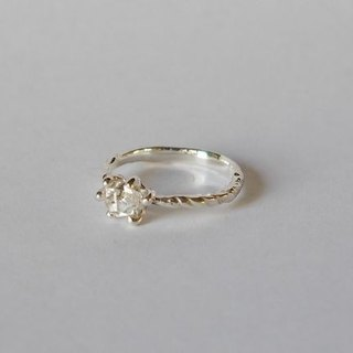 Herkimer diamond ring (sv) Herkimer Diamond
