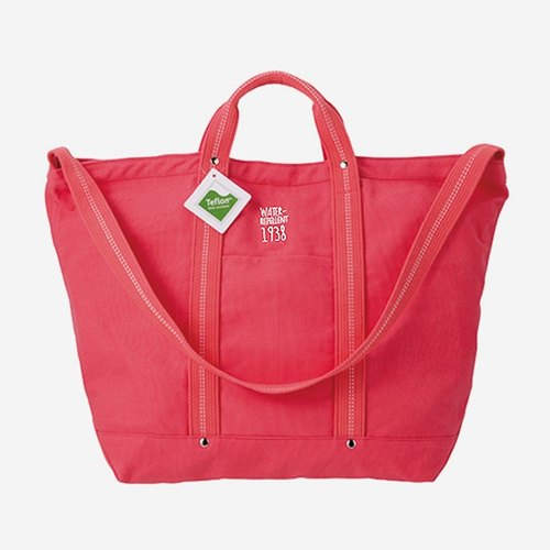 EVERYDAY BAG Waterproof Fabric Classic Canvas Backpack / CORAL Coral Red