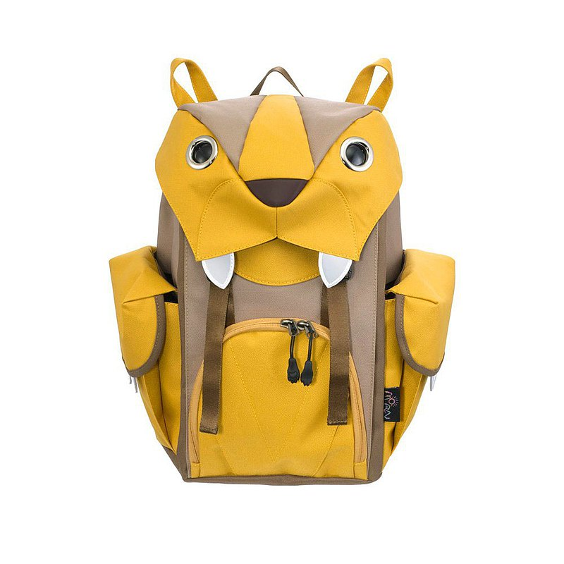 Morn Creations Genuine Cute Tiger Backpack-Yellow (M) (BC-202-MU)
