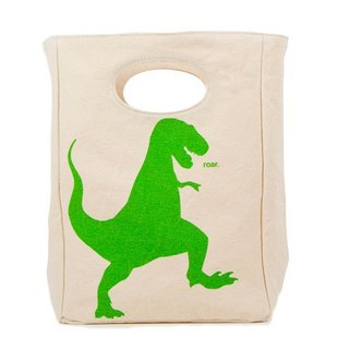 Bags/Leisure Bags/Sports Bags Canadian Fluf Organic Cotton Eco Friendly Handbag - Tyrannosaurus