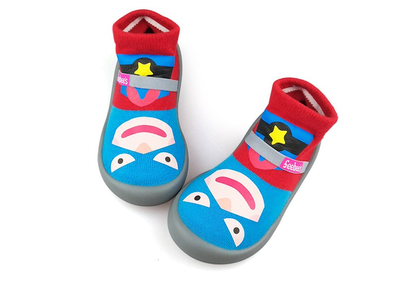 Feebees toddler shoes/socks shoes/children's shoes, fantasy island series, superman, made in Taiwan