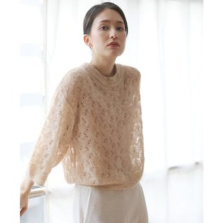 KOOW Shell In Bloom Shell Pattern Cutout Mohair Sweater