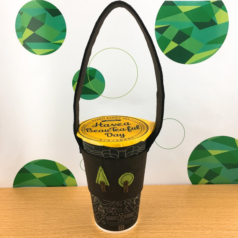 Forest green beverage bags cup sets