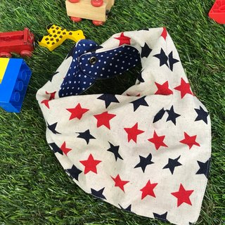 Fashion scarf*stars*three-dimensional triangle bibs