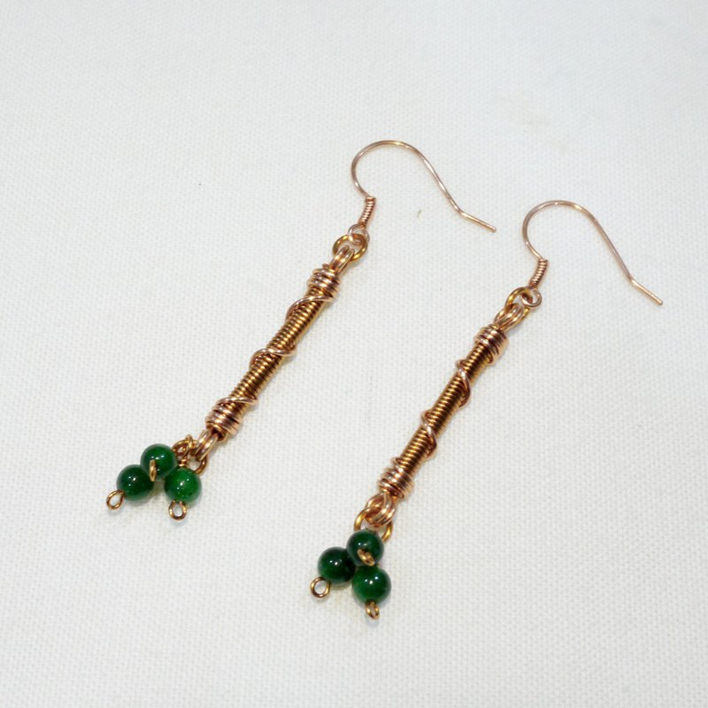 Green fruit earrings
