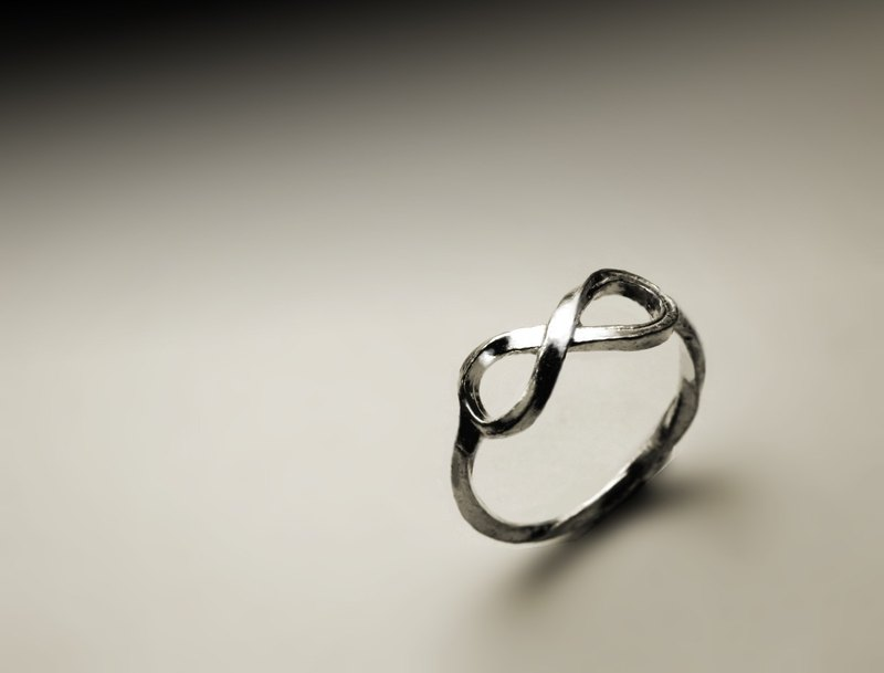 Reversible unlimited silver ring