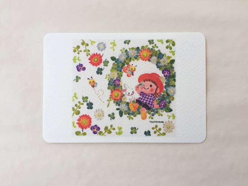 Flower color garden lease postcard no.124
