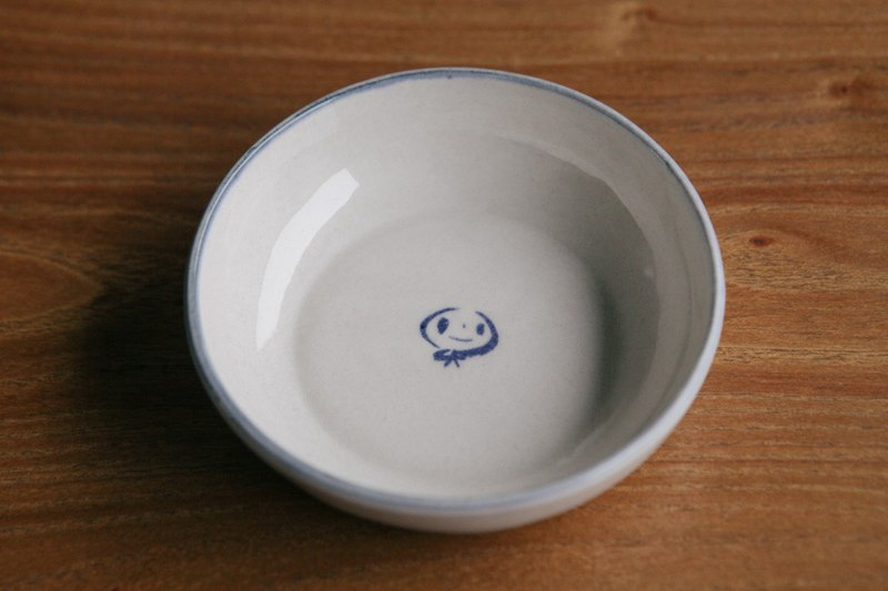 Brut Cake - Shallow mouth small dish sauce dish (10) Handmade healing hand-painted