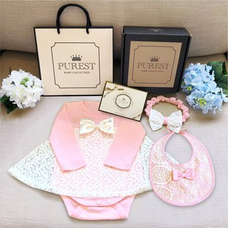 PUREST Little Princess's gorgeous dress / Deluxe Edition / Long Sleeve Gift Set / Baby Moon / Gift Preferred
