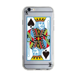 Spades K - Samsung S5 S6 S7 note4 note5 iPhone 5 5s 6 6s 6 plus 7 7 plus ASUS HTC m9 Sony LG G4 G5 v10 phone shell mobile phone sets phone shell phone case