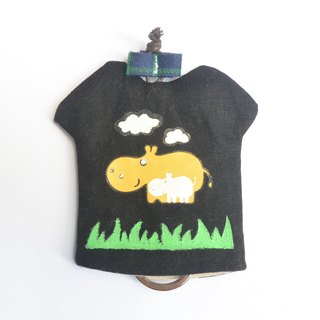 T-Shirt Key Case - Hippo