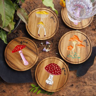 Mixed Mushroom Set of 4 Coasters