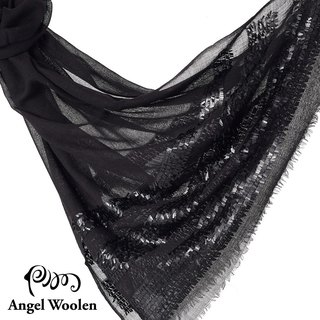 [Angel Woolen] Indian hand-embroidered shoulder scarf (Fantasy and magnificent)