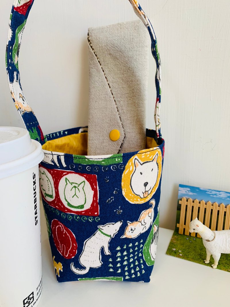 Wen Qingfeng environmental protection waterproof fat cup tote bag ~ faithful friend light bag exchange gift