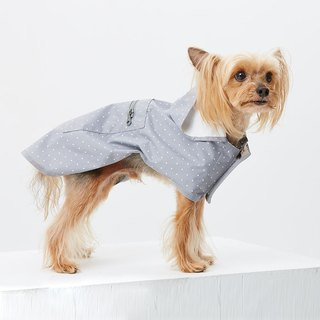 High quality long version of hooded waterproof pet clothes